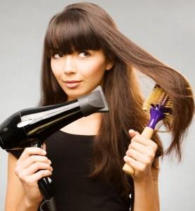 Как правильно феном выпрямить волосы